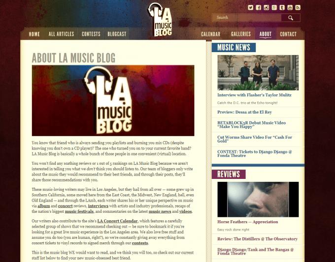 blogging music