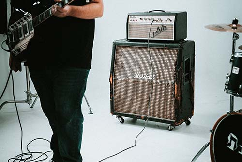 Man and Amplifier