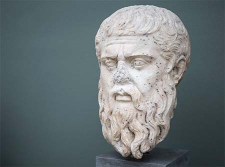 Plato Head Sculpture