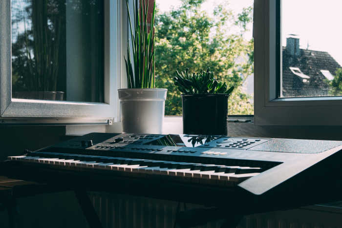 Digital Piano by Window