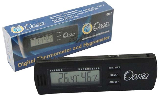 Oasis OH-2 Guitar Hygrometer