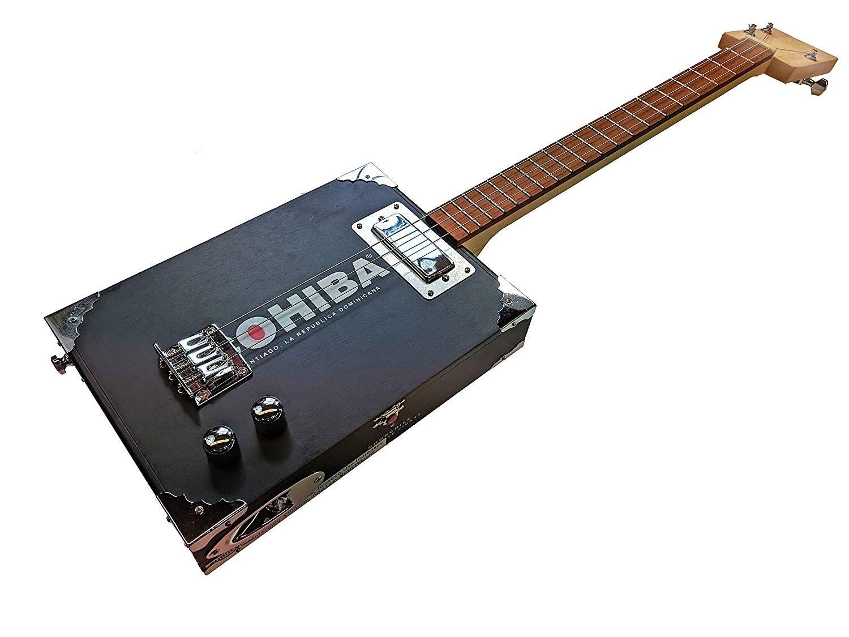 Electric-Acoustic Cigar Box Guitar Kit
